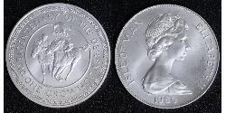 1 Crown Isle of Man Copper-Nickel Elizabeth II (1926-)