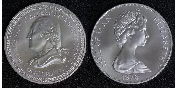 1 Crown Isle of Man Copper/Nickel Elizabeth II (1926-)