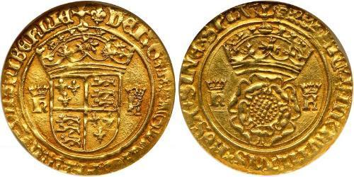 1 Crown Kingdom of England (927-1649,1660-1707) Gold Henry VIII (1491 - 1547)