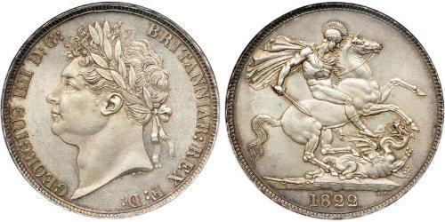 1 Crown Reino Unido de Gran Bretaña e Irlanda (1801-1922) Plata Jorge IV (1762-1830)