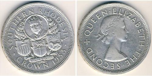 1 Crown Southern Rhodesia (1923-1980) Silber Elizabeth II (1926-)