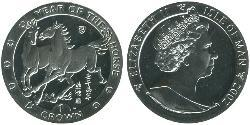 1 Crown Isle of Man Silver Elizabeth II (1926-)