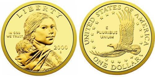 1 Dólar Estados Unidos de América (1776 - ) Cobre/Zinc