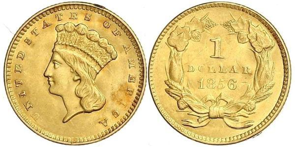 1 Dólar Estados Unidos de América (1776 - ) Oro