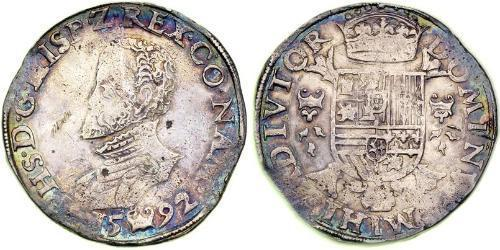 1 Daalder Dutch Republic (1581 - 1795) Silver Philip II of Spain (1527-1598)