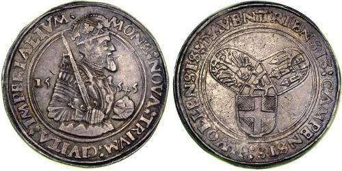 1 Daalder Kingdom of the Netherlands (1815 - ) Silver Charles V, Holy Roman Emperor (1500-1558)