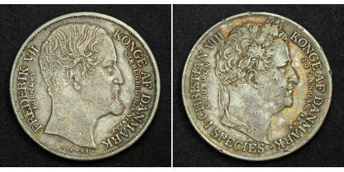 1 Daler Denmark Silver