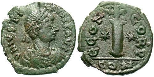 1 Decanummium Byzantine Empire (330-1453) Bronze Justin I (450-527)