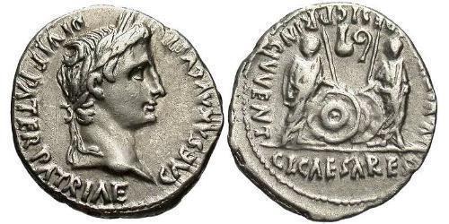 1 Denarius 羅馬帝國 銀 Augustus (63BC- 14)