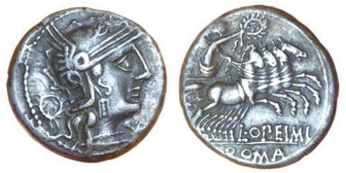1 Denarius Römische Republik (509BC-27BC) Silber Lucius Opimius