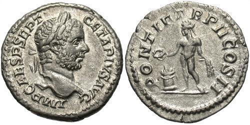 1 Denarius Roman Empire (27BC-395) Silver Geta (189-211)
