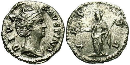 1 Denarius Roman Empire (27BC-395) Silver Faustina I (105-141)
