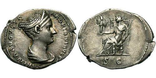 1 Denarius Roman Empire (27BC-395) Silver Vibia Sabina (83-137)
