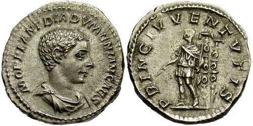 1 Denarius Roman Empire (27BC-395) Silver Diadumenian (208-218)