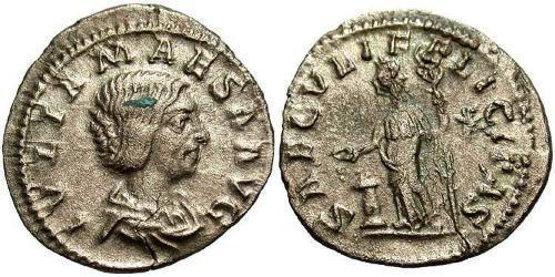 1 Denarius Roman Empire (27BC-395) Silver Julia Maesa (165-224)