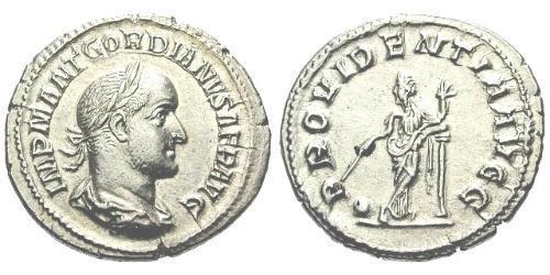 1 Denarius Roman Empire (27BC-395) Silver Gordian II (192-238)