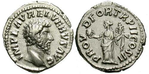 1 Denarius Roman Empire (27BC-395) Silver Lucius Verus (130-169)