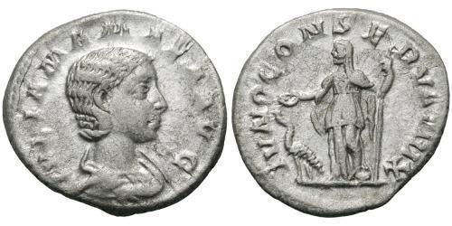 1 Denarius Roman Empire (27BC-395) Silver Julia Avita Mamaea (180-235)