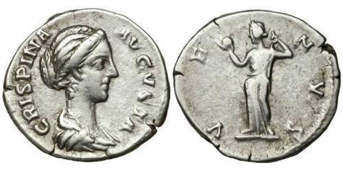 1 Denarius Roman Empire (27BC-395) Silver Bruttia Crispina (164-187)