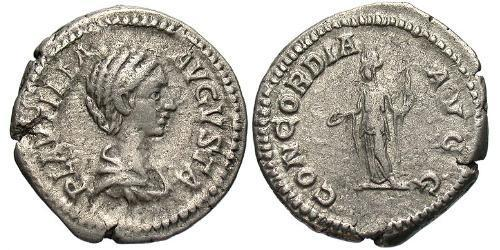 1 Denarius Roman Empire (27BC-395) Silver Fulvia Plautilla (189-212)