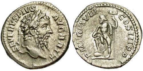 1 Denarius Roman Empire (27BC-395) Silver Septimius Severus (145- 211)
