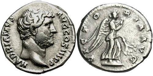 1 Denarius Roman Empire (27BC-395) Silver Hadrian  (76 - 138)