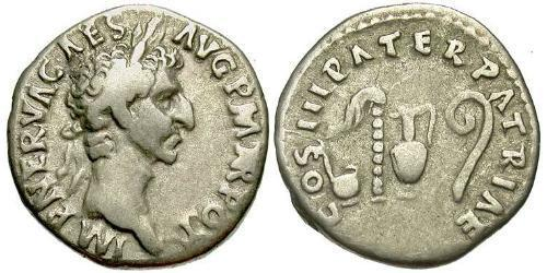 1 Denarius Roman Empire (27BC-395) Silver Nerva (30- 98)