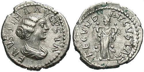 1 Denarius Roman Empire (27BC-395) Silver Faustina II (130-175)