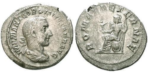 1 Denarius Roman Empire (27BC-395) Silver Gordian I Africanus (159-238)