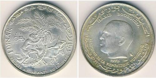 1 Denaro Tunisia Argento