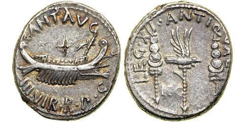 1 Denier République romaine (509BC-27BC) Argent Marc Antoine (83BC-30BC)