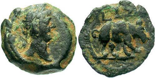 1 Dichalkon Roman Empire (27BC-395) Bronze Trajan (53-117)