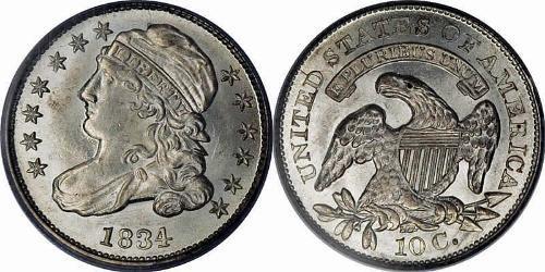 1 Dime / 10 Cent Vereinigten Staaten von Amerika (1776 - ) Silber/Kupfer