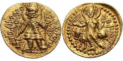 1 Dinar Kushan Empire (60-375) Gold Vasudeva I