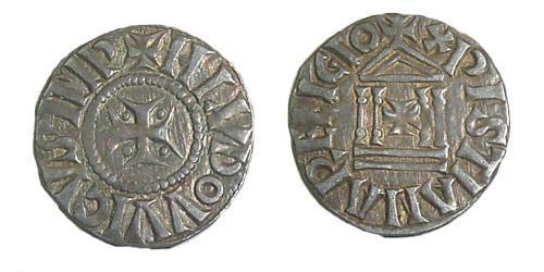 1 Dinar Frankish Empire (481-843) Silver Louis the Pious (778-840)