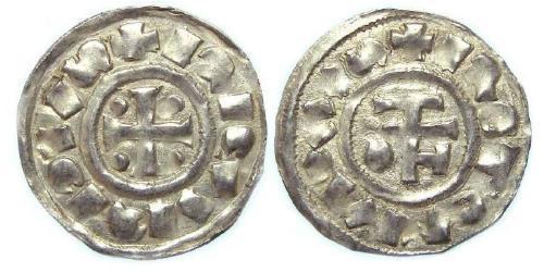 1 Dinar Kingdom of France (843-1791) Silver Richard I of Normandy (933-996)