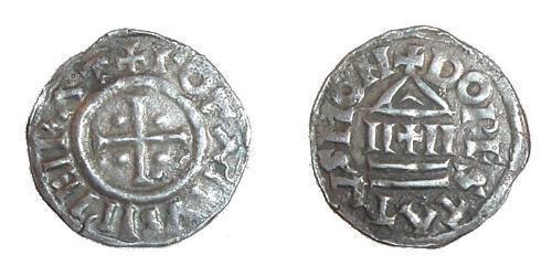 1 Dinar Kingdom of France (843-1791) Silver Lothair I (795 -855)