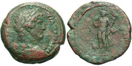 1 Diobol Roman Empire (27BC-395) Bronze Hadrian  (76 - 138)