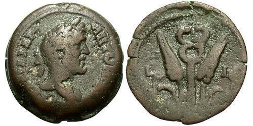 1 Diobol Roman Empire (27BC-395) Bronze Antoninus Pius  (86-161)
