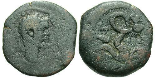1 Diobol Roman Empire (27BC-395) Bronze Septimius Severus (145- 211)