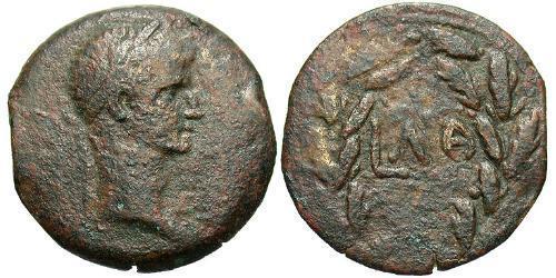 1 Diobol Roman Empire (27BC-395) Bronze Augustus (63BC- 14)