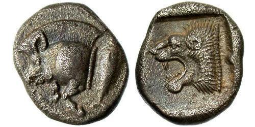 1 Diobol Antigua Grecia (1100BC-330) Plata