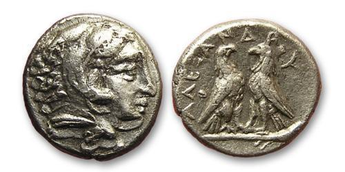 1 Diobol Macedonian Kingdom (800BC-146BC) Silver Alexander III of Macedon (356BC-323BC)