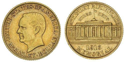 1 Dollar 美利堅合眾國 (1776 - ) 金 William McKinley, Jr. (1843 - 1901)
