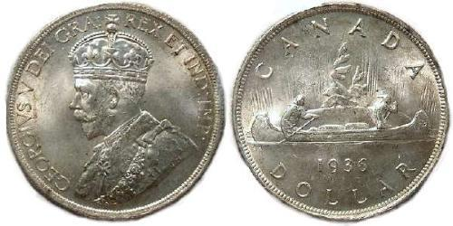 1 Dollar 加拿大 銀 乔治五世  (1865-1936)