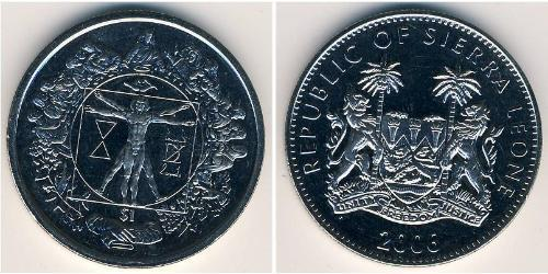 1 Dollar Sierra Leone Copper-Nickel