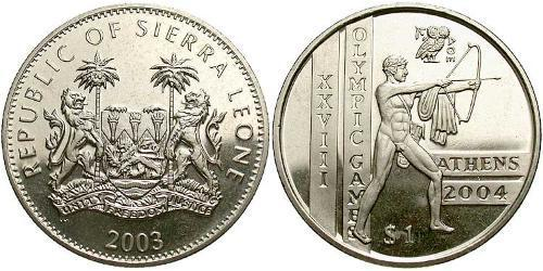 1 Dollar Sierra Leone Copper/Nickel