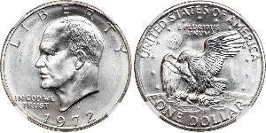 1 Dollar USA (1776 - ) Copper/Nickel Dwight David Eisenhower (1890-1969)