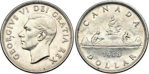 1 Dollar Kanada Silber Georg VI (1895-1952)