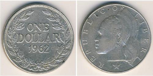1 Dollar Liberia Silber